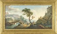 paesaggio con viandanti by francesco antoniani