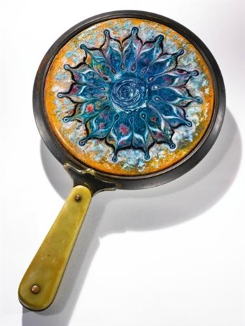 hand mirror by tiffany studios