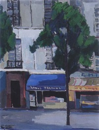street scene, paris by karel bleyenberg