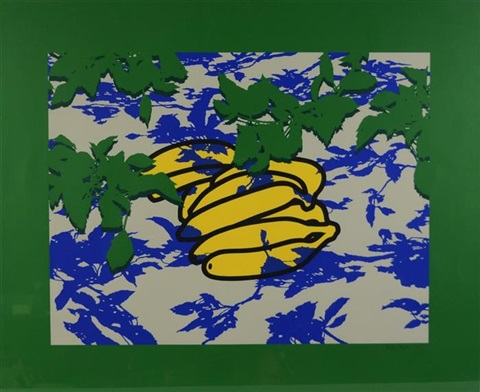 bananas with leaves by patrick caulfield