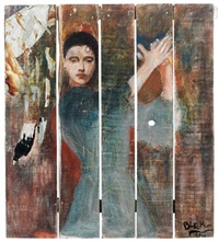 danseuse espagnole by blek le rat