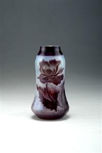 symbolistische vase pavot by henri muller
