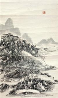 山水 镜片 纸本 by huang binhong