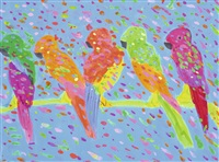 five parrots by walasse ting