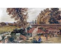 thorpe gardens, norwich by john joseph cotman