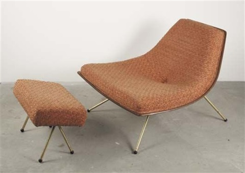 Coconut Lounge Chair And Ottoman By A.j. Donahue