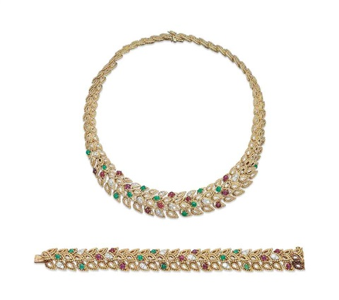 necklace and bracelet 2 works by van cleef arpels