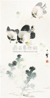 戏鱼图 by liang zhanfeng