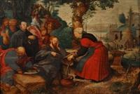 le christ et la samaritaine au puits by pieter balten