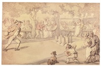 the game at nine pins by thomas rowlandson