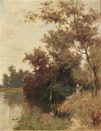 afternoon by the river by albert babb insley