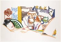 monica with cézanne (from portfolio 90) by tom wesselmann