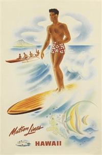 matson lines/hawaii (2 works) by frank macintosh