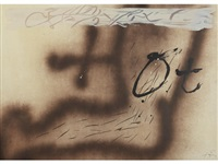 one plate from suite 63 x 90 by antoni tàpies