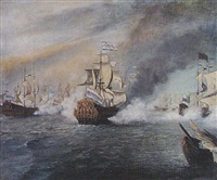 naval battle scene by max parsons