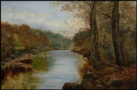 autumn in the river by john clayton adams