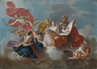 the arts - a modello for a ceiling decoration by claudio francesco beaumont