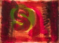 (red) listening ear by howard hodgkin