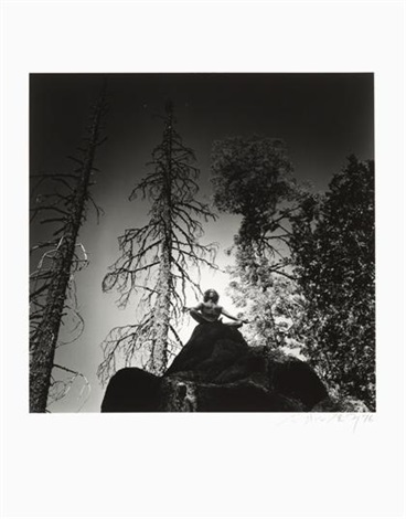 man on rock top by eikoh hosoe