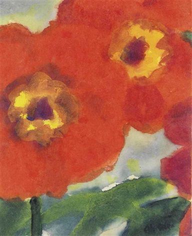 rote mohnblüten by emil nolde