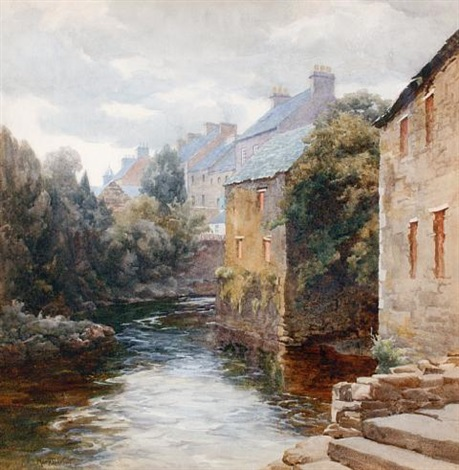 a river view glenties co donegal by mary georgina barton