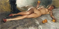 nude with oranges by richard durando-togo