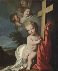 the christ child holding a cross by jacopo amigoni