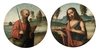 saint paul (+ saint john the baptist; 2 works) by giovan battista benvenuti