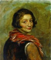 jeune femme en buste (léa) by roman kramsztyk