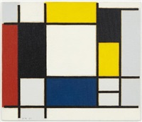 piet mondrian, 'composition with yellow, red, black, blue and gray,' 1920 by richard pettibone