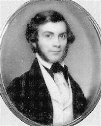 mr. ferris of new york, with brown hair and side whiskers, wearing black coat by nathaniel rogers