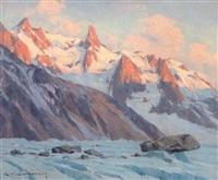 soir sur la mer de glace (aig. du géant) by charles henry contencin