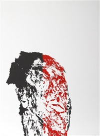 facing (from hope and optimism) by leon golub