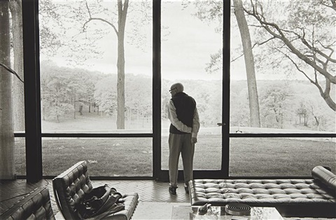 philip johnson glass house new canaan connecticut by annie leibovitz