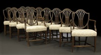 dining chairs (suite of 12) by robert adam