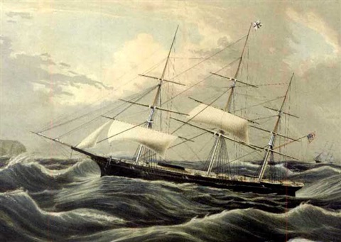 clipper ship racer after je buttersworth by charles r parsons
