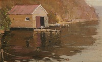 the boat shed by norman lloyd