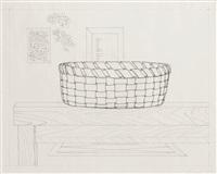 door mirror table basket window rug by richard artschwager