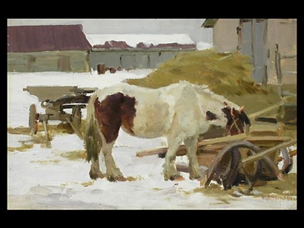 Die Pferdetränke by Lew Naroditsky on artnet