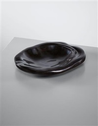rare shallow dish, gifted to his wife marguerite noll by alexandre noll