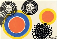 petalled black spirals by alexander calder