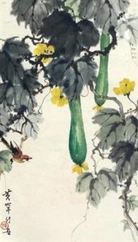 丝瓜翠鸟 by huang huanwu