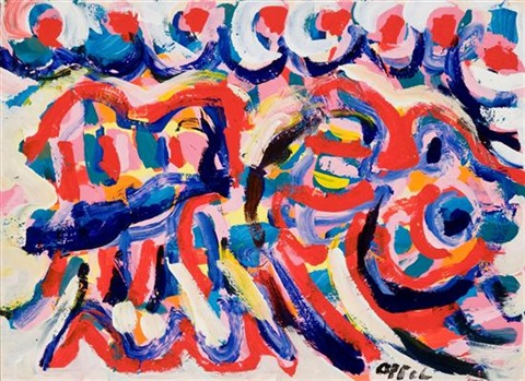 woman resting by karel appel
