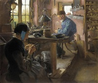 in the cobbler's workshop by august torsleff