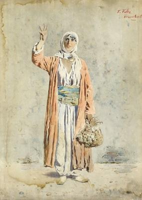 junge türkin mit gemüsekorb by silvestro valeri