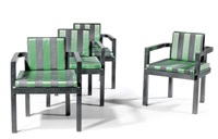 fauteuils, pour l'entrée de la faguswerks (set of 4) by walter gropius