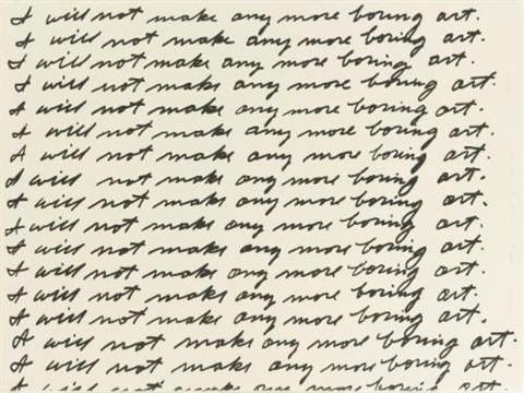 i will not make any more boring art by john baldessari