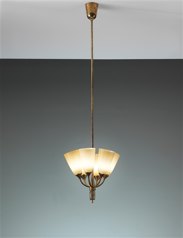 six armed chandelier from the concerto series by paavo tynell