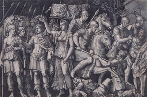 battle scene by andrea mantegna