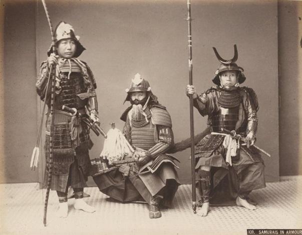 samouraïs by kusakabe kimbei